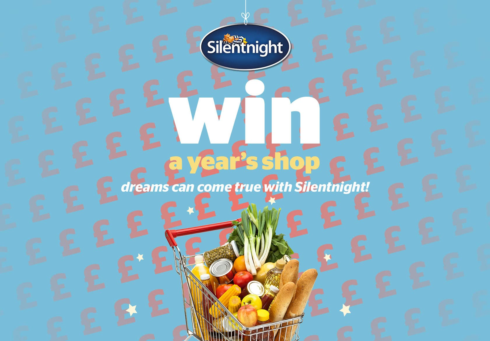 Win a years shop, dreams can come big with Silentnight
